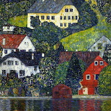 Houses at Unterach on Attersee 1916 by Gustav Klimt