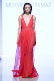 Flowy Gown with Deep V Neck