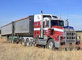 Kenworth B Double bulk grain carrier