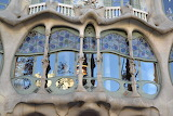 Casa Batllo Windows, Barcelona, Catalunya