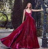 Red Velvet Gown