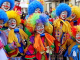 Children, carnival costumes, painted faces, cheerful, Madeira