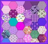 Hexagon Quilt Pattern_Purple Tones