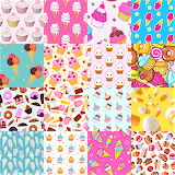 Ice Cream and Cupcake Collage