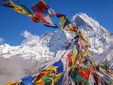 Everest Prayer-flags mountains lanscape shutterstock