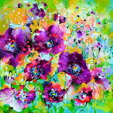 Purple Poppies Field by Soos Roxana Gabriela