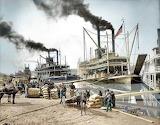 Bateaux à Vapeur sur le Mississipi en 1907