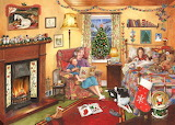 a peaceful christmas evening