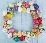 Easter Eggs Circle Bouquet