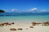 Sunny tropical beach scene