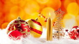 Red and golden ornaments
