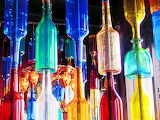 Glass bottles of all colors