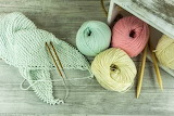 Yarn with circular needles