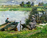 Albert Chevallier Tayler, The Thames at Benson, 1912