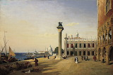 "Corot ""Venise, La Piazzetta"""