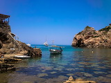 Boats in Cala Deia, Mallorca