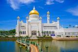 Bridge over water to Mosque in Brunei