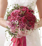 Burgundy carnations bouquet
