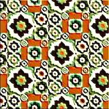 Seamless-pattern-retro-ceramic-tile-design-floral-ornate-endless