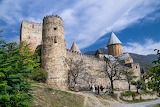 Ananuri is a castle complex on the Aragvi River in Geo