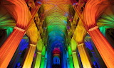 colorful cathedral pillars