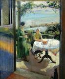 The Blue Door by Harold Harvey 1931
