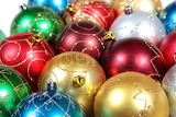 Multicoloured christmas ornaments