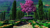 ^ Beautiful garden wallpaper