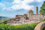 Volterra, Tuscany, old medieval town, hills, landscape