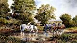 Meeting at the waterhole painting