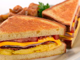 ^ Breakfast sandwich