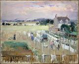 Berthe Morisot, Etendre le linge, 1875