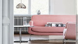 Minimalism, pink couch and chair