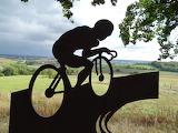 Statue of a cyclist on the Gulpenerberg, Limburg