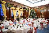 Christmas wedding reception Swinfen Hall