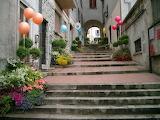 Borgo Maggiore, scaline, San Marino