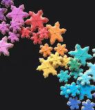 Rainbow snowflakes by Holly Fox