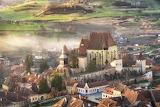 Cool morning mist Biertan Romania