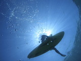 Underwater View of a Surfer Off the Island of Lefkas Greece