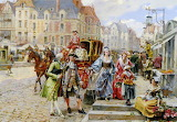 Paris Street In The Time Of Louis XIV, France