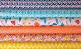 #Aqua and Peach Fabric