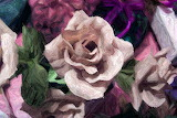 Rose background painting element