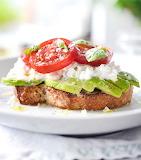 Caprese avocado sandwich