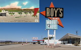 Abandoned Town, Amboy -  Roy's Is Hanging On