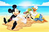 #Mickey and Donald Bury Pluto