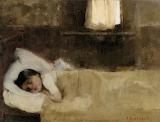 Helene Schjerfbeck, Nukkuva Tytto, 1890