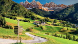 Dolomites mountains-Funes valley-Santa Magdalena village