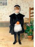 Clémence Roth, Petite fille tenant une orange, 1889