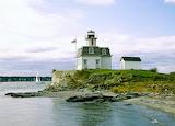 Rose Island Lighthouse Narragansett Bay Newport Rhode Island