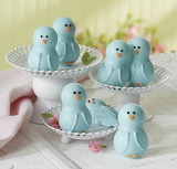 Blue Chocolate Chicks for Easter